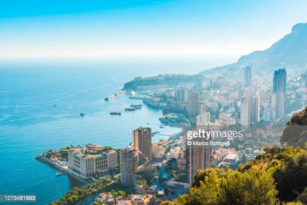 cityscape of montecarlo, monaco - monaco fotografías e imágenes de stock
