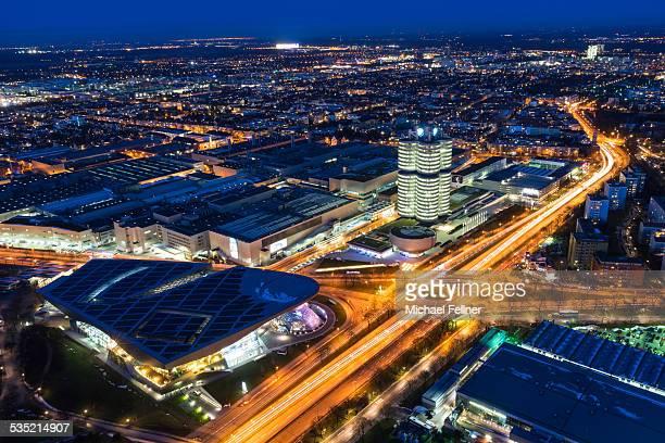 Cityscape of Munich at night