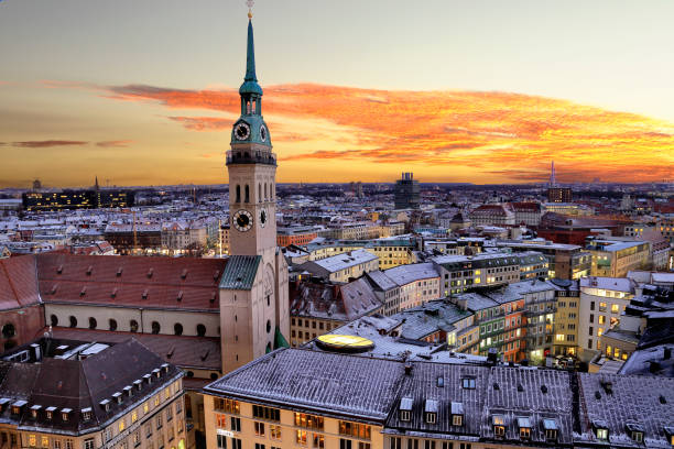 cityscape of munich - germany stock pictures, royalty-free photos & images