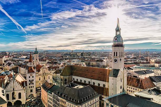 Cityscape Of Munich Wall Art