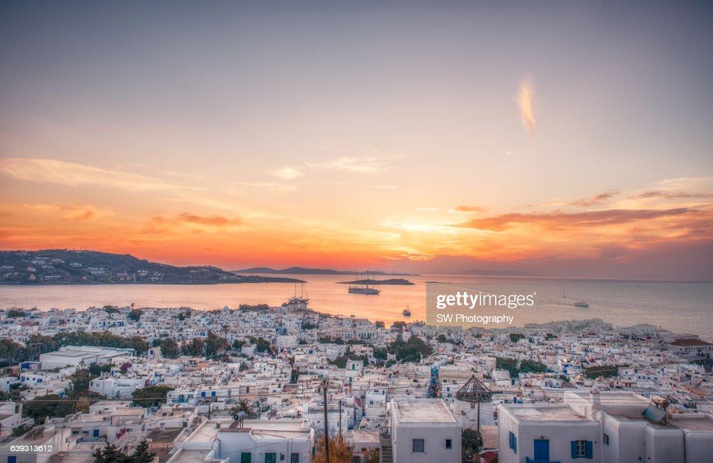 Cityscape of Mykonos, Greece : Stock Photo