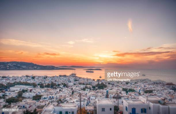 Cityscape of Mykonos, Greece