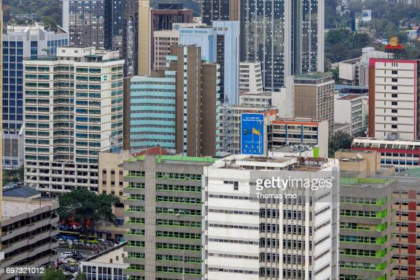 Cityscape of Nairobi capital of Kenya on May 15 2017 in Nairobi Kenya
