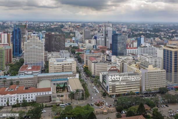 Cityscape of Nairobi capital of Kenya on May 15 2017 in Nairobi Kenya