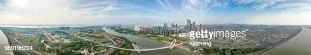 cityscape of nanjing - nanjing road stockfoto's en -beelden