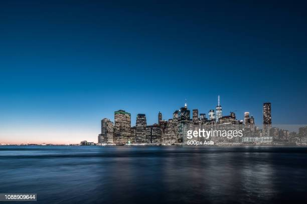 cityscape of new york, usa - image stockfoto's en -beelden