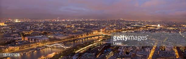 Paysage urbain de Paris de nuit (XXL