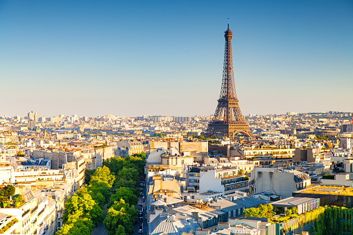 cityscape of paris by the sunset 604371970