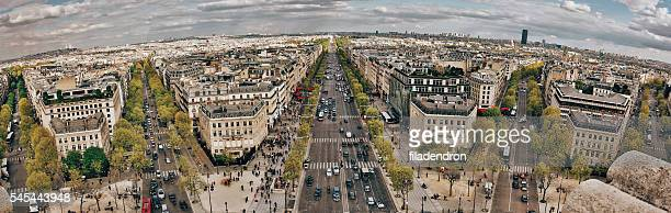 cityscape of paris - champs elysees quarter stock pictures, royalty-free photos & images