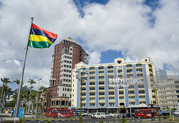 A cityscape of Port Louis the capital of Mauritius It is an island nation off the coast of the African continent in the southwest Indian Ocean about...