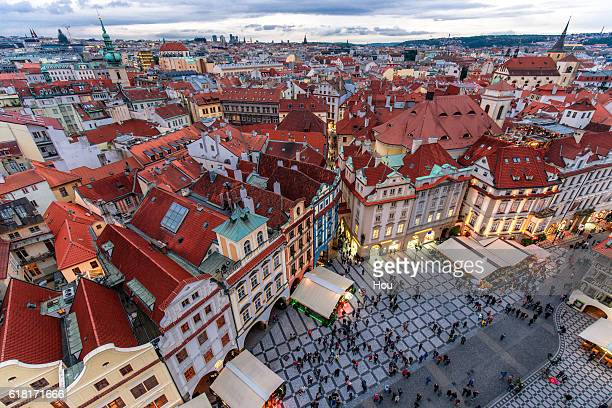 cityscape of prague,czech - プラハ 旧市街広場 ストックフォトと画像