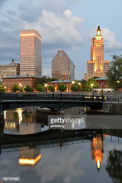 cityscape of providence - providence rhode island stock photos and pictures