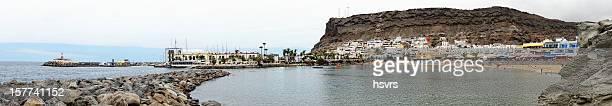 Cityscape of Puerto de Mogan in Gran Canaria (Spain)