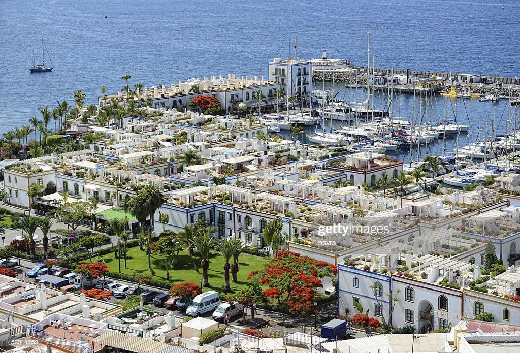 Cityscape of Puerto de Mogan in Gran Canaria (Spain) : Stock Photo