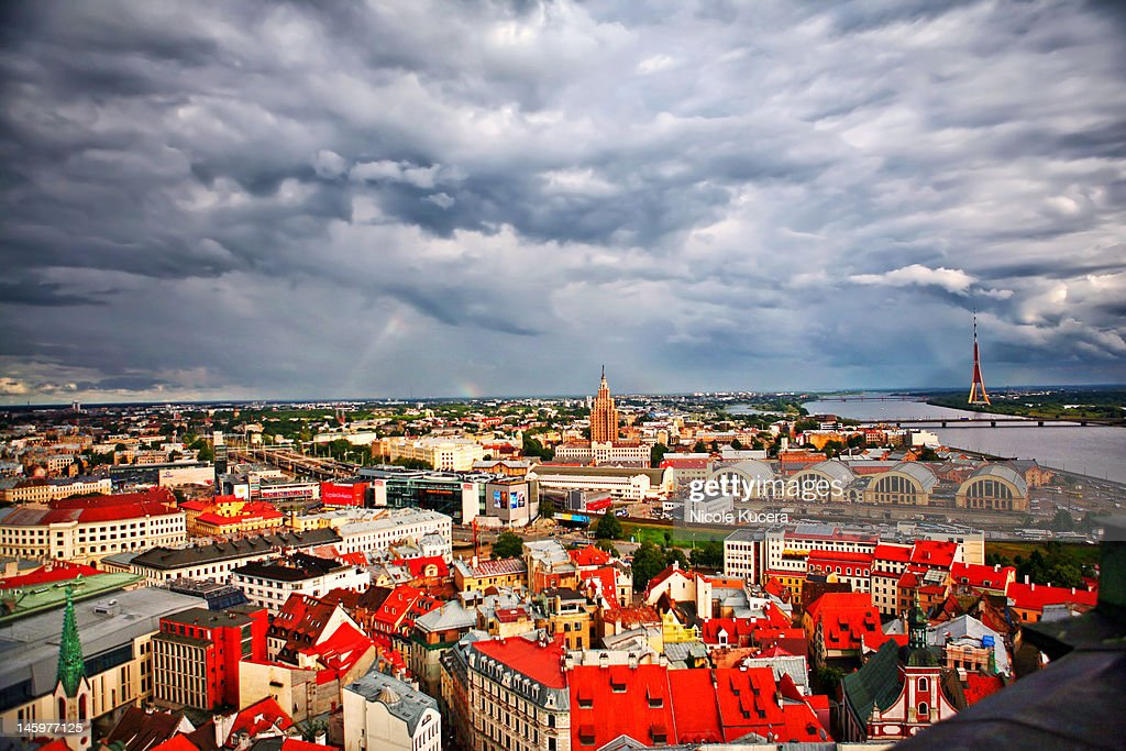 Cityscape of Riga : Stock Photo