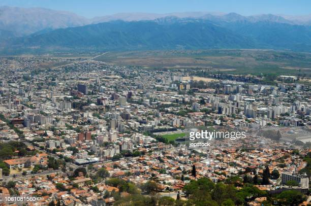 cityscape of salta city in argentina - salta argentina stock photos and pictures