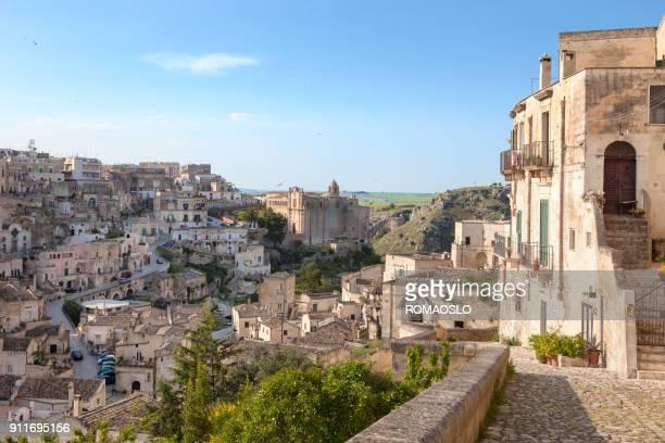 cityscape of sassi barisano - matera, basilicata italy - matera stock photos and pictures