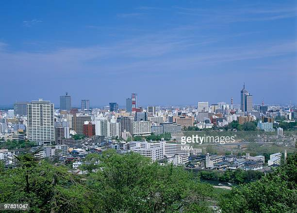 Cityscape of Sendai, Sendai, Miyagi, Japan