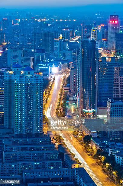 Stadtansicht von Shenzhen bei Nacht, China