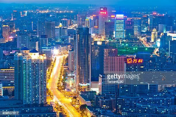 Cityscape of Shenyang at night, China