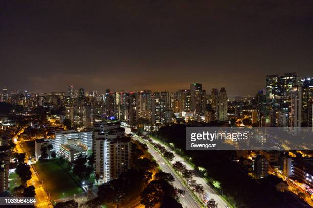 Cityscape of Singapore by night