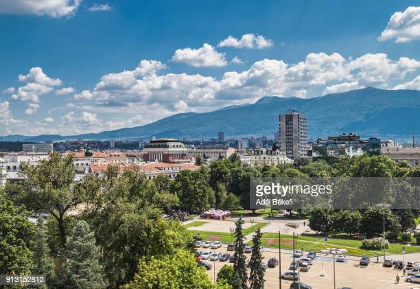 cityscape of sofia (bulgaria) - general view stock pictures, royalty-free photos & images