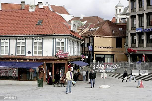 Cityscape of Stavanger, Eropean cultural capital 2008.