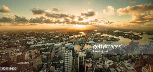 Cityscape of Sydney.