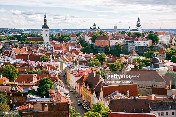 cityscape of tallinn, estonia, eu - estonia stock pictures, royalty-free photos & images
