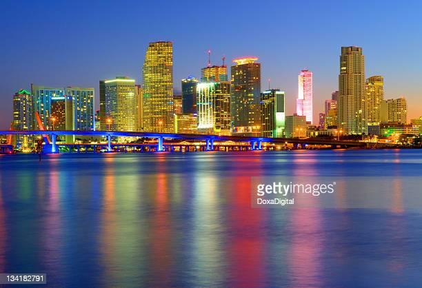 A cityscape of the beautiful Miami