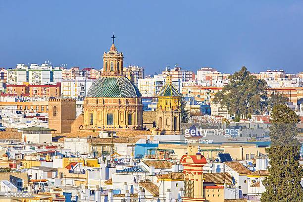 cityscape of the city of sevilla - seville stock pictures, royalty-free photos & images