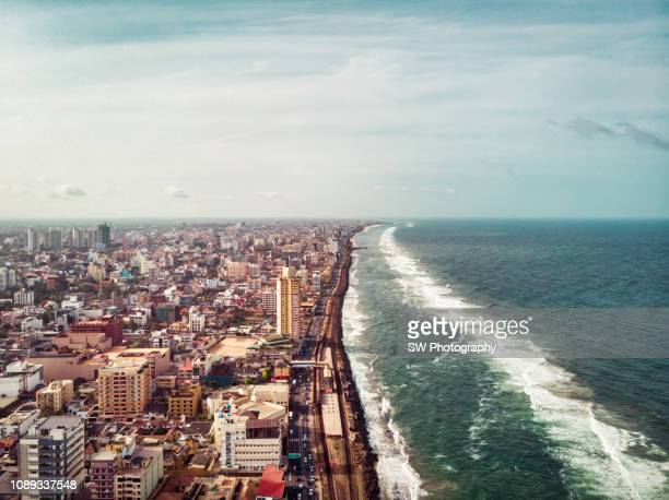 cityscape of the downtown district of colombo, sri lanka - colombo stock pictures, royalty-free photos & images