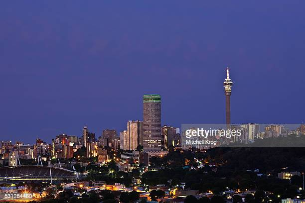 Cityscape of the Iconic City Skyline of Johannesburg, South Africa