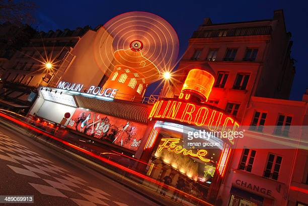 Cityscape of the Moulin rouge in Paris