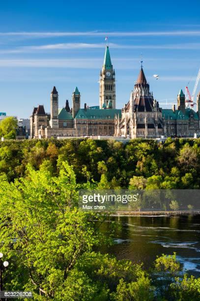 Cityscape of the Parliament Hill in Ottawa