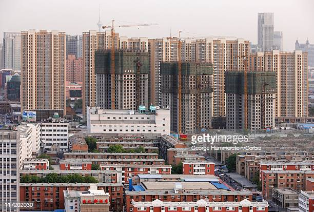 cityscape of tianjin, china - tianjin stock pictures, royalty-free photos & images