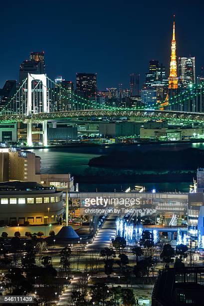 Cityscape of Tokyo in winter