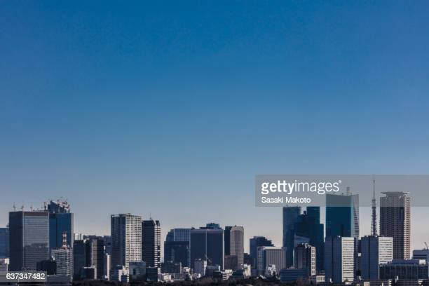 cityscape of tokyo - 離れた ストックフォトと画像