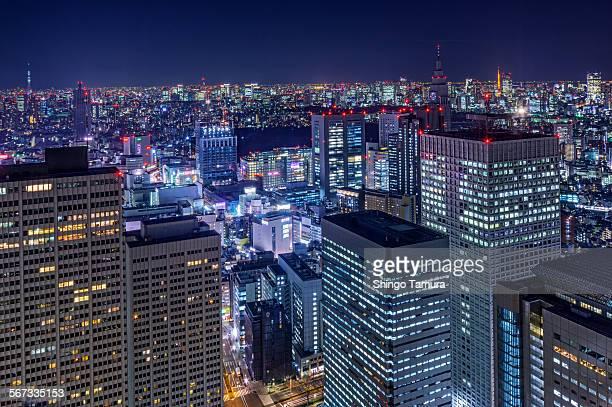 Cityscape of Tokyo Shinjuku by night