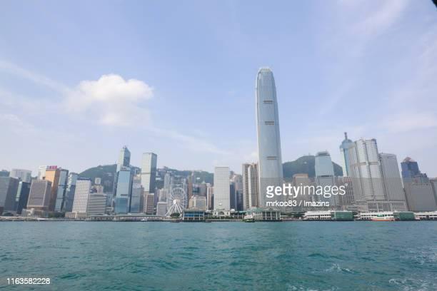 cityscape of tsim sha tsui, hong kong - ビクトリア公園 ストックフォトと画像