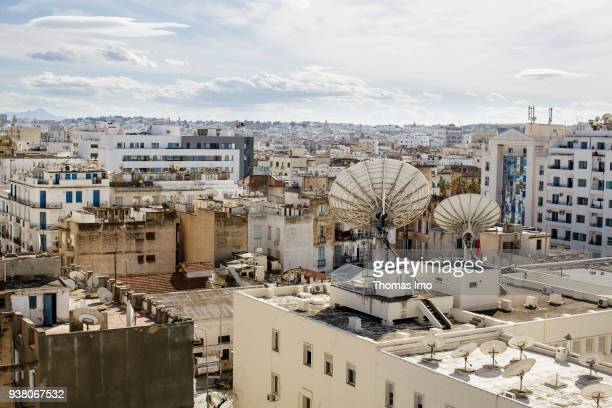 Cityscape of Tunis capital of Tunisia on March 05 2018 in TUNIS TUNISIA