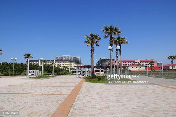 Cityscape of Urayasu City, Chiba Prefecture, Honshu, Japan