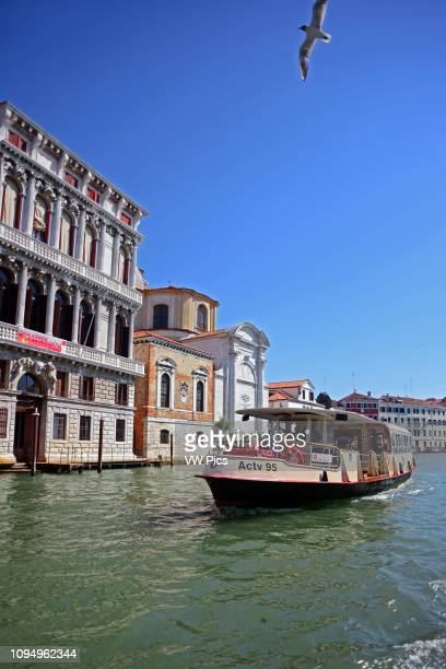 Cityscape of Venice from canal, Italy.