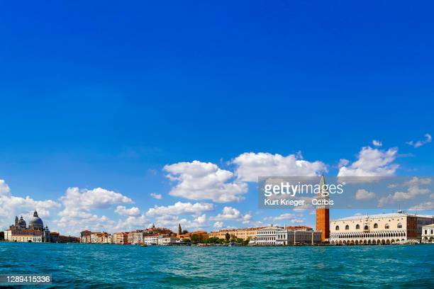Cityscape of Venice with Saint Mark´s Square, Doge´s Palace and the Grand Canal photographed on September 3, 2020 in Venice, Italy.