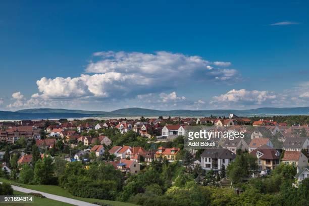 cityscape of veszprém (hungary) - traditionally hungarian stockfoto's en -beelden