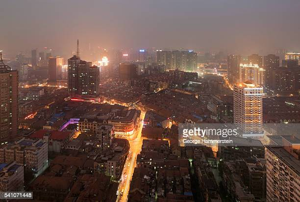 cityscape of wuhan, china - wuhan stock photos and pictures