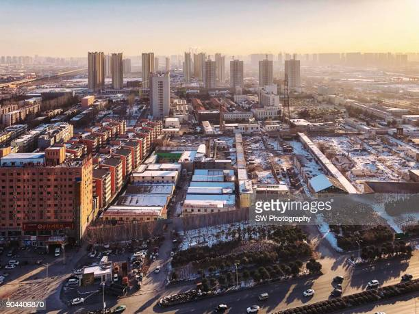 cityscape of zhengzhou, henan province, china - henan province stock pictures, royalty-free photos & images