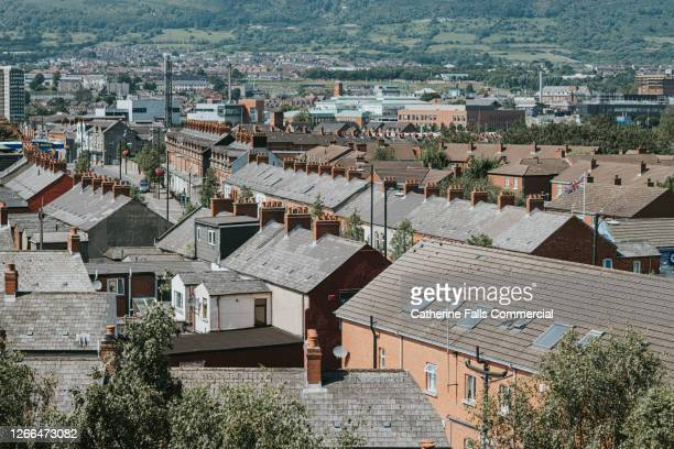 cityscape on a sunny day - belfast stock pictures, royalty-free photos & images