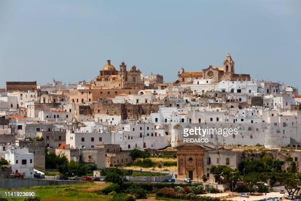 Cityscape. Ostuni the white city. Apulia. Italy. Europe.