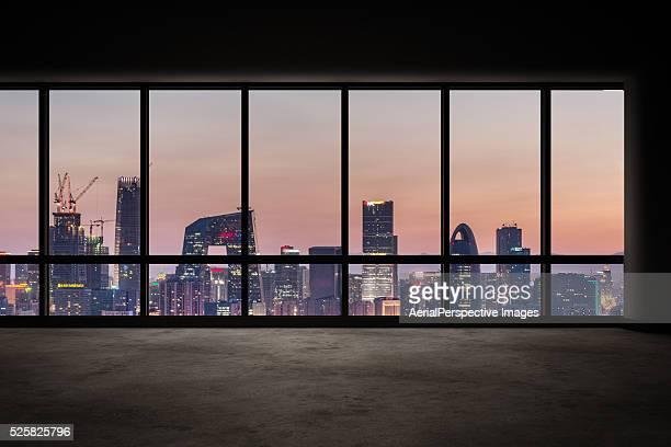 Cityscape Outside the Windows, Beijing, China